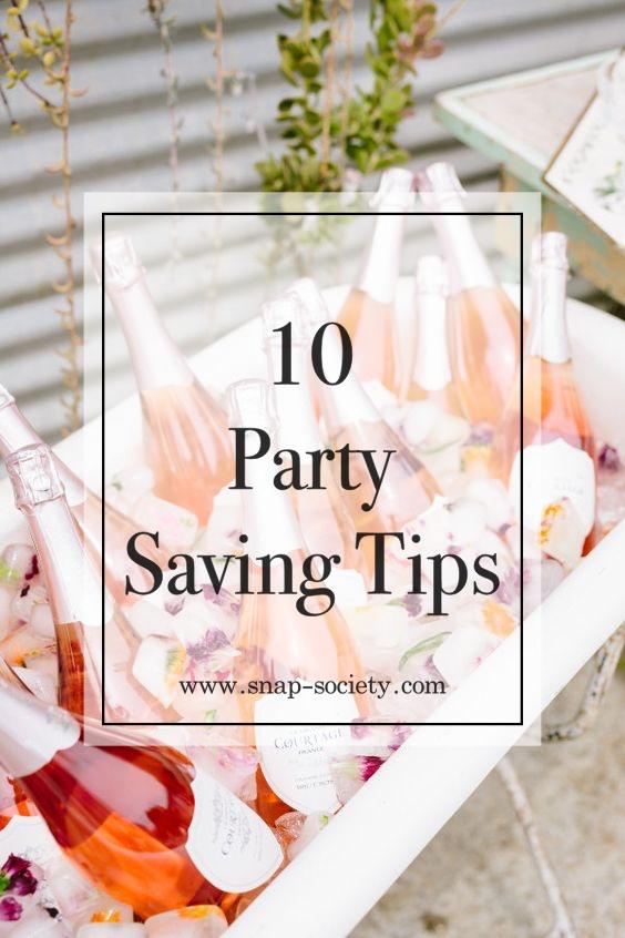 party saving tips