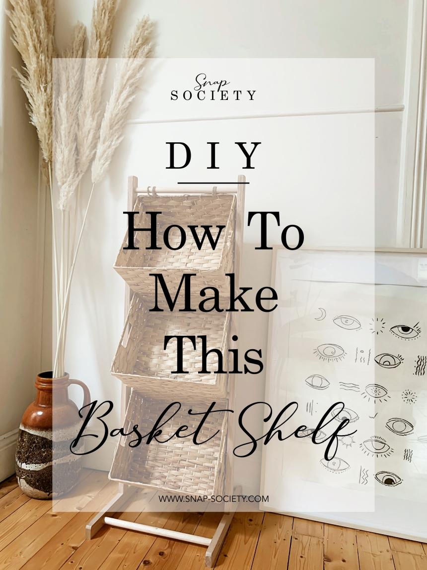 DIY Basket Shelf